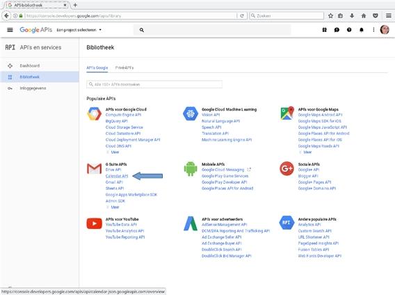 Instructions Google Calendar API - Getaweb