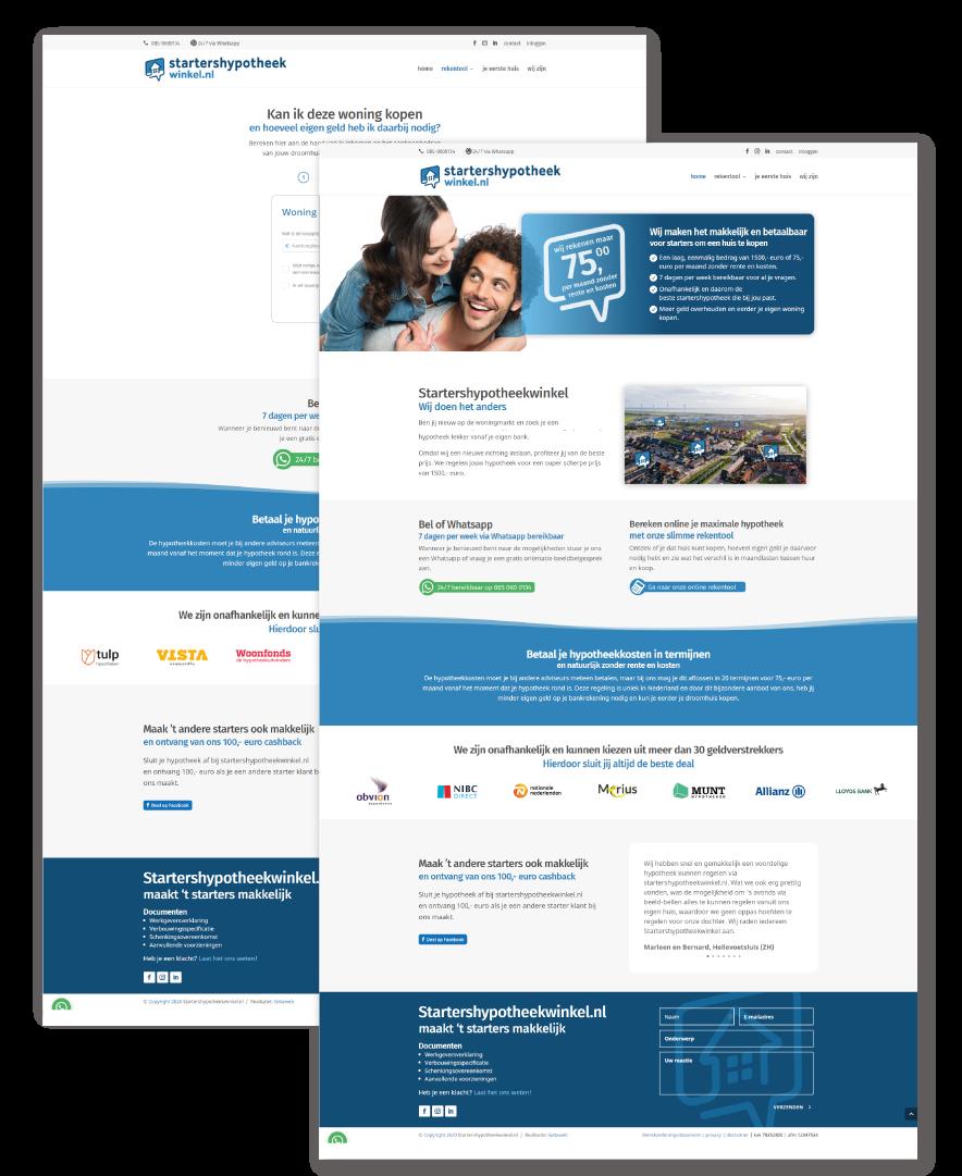 website laten maken in emmen - voorbeeld startershypotheekwinkel.nl